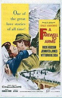 <i>A Farewell to Arms</i> (1957 film) 1957 film by John Huston, Charles Vidor, Andrew Marton