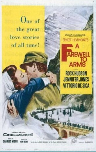 A Farewell to Arms (1957 film) - Theatrical release poster