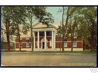Downtown Stamford - Image: Ferguson Library 1912Postcard