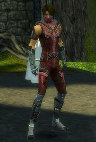 Guild Wars Factions - A male assassin