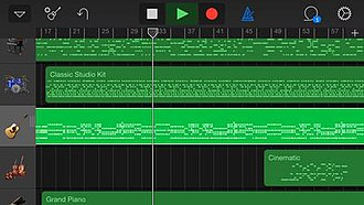 GarageBand - Image: Garage Band i OS screenshot