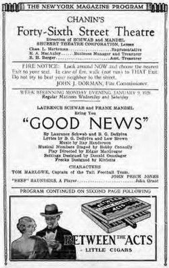 Good News (musical) - Original 1927 Broadway Program