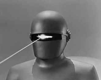 Gort (The Day the Earth Stood Still) - Gort firing beam weapon.