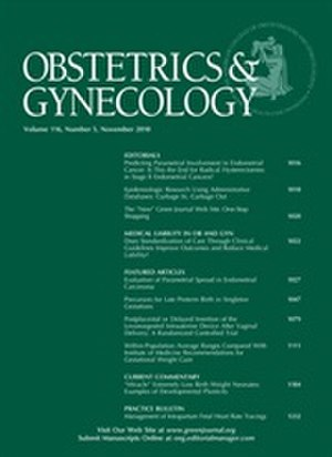 Obstetrics & Gynecology (journal) - Image: Green Journal