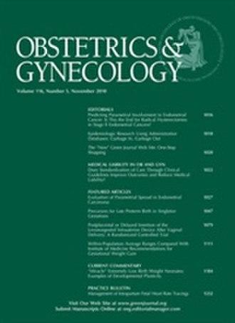 Obstetrics & Gynecology (journal) - Image: Green Journal