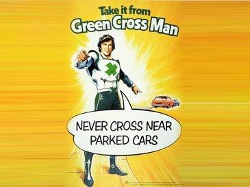 Green cross man take it