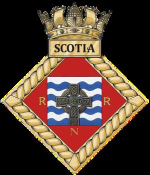 HMS Scotia (shore establishment) - Image: HMS Scotia badge