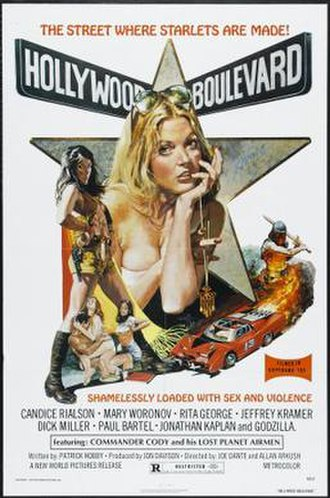 Hollywood Boulevard (1976 film) - Theatrical release poster