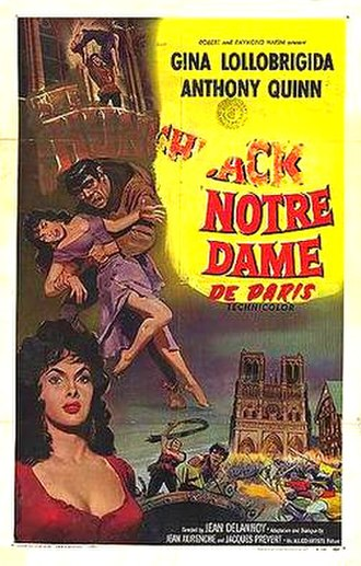 The Hunchback of Notre Dame (1956 film) - French theatrical release poster
