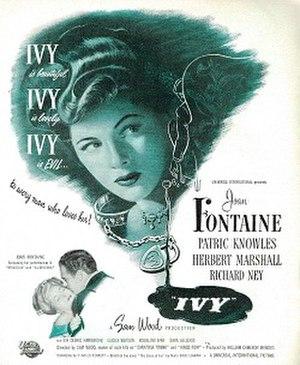 Ivy (1947 film) - Magazine advertisement