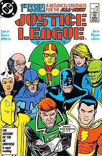 Justice League International Group of fictional characters in DC Comics
