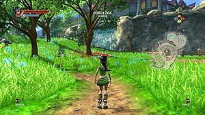 Kameo - This screenshot of Kameo in the game's overworld typifies the bright color palette for which it was known.