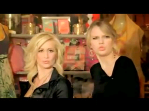 Pickler and Swift in the music video.