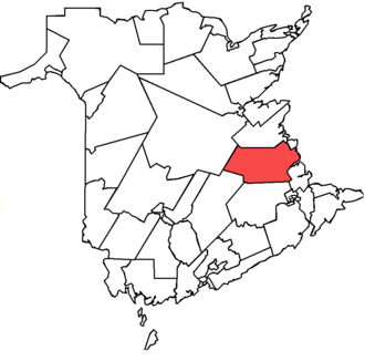 Kent (provincial electoral district) - Kent in relation to other New Brunswick Provincial electoral districts