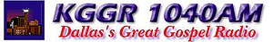 KGGR - Great Gospel Radio 1040 logo used prior to simulcasting on 102.5 FM in 2009.
