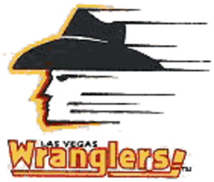 Las Vegas Wranglers - Original logo that was phased out after ECHL-WCHL merger