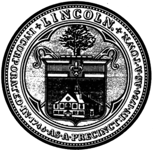 Lincoln, Massachusetts - Image: Lincoln MA seal