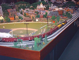Miniature Railroad & Village - A shot of the one section of the MRRV display.