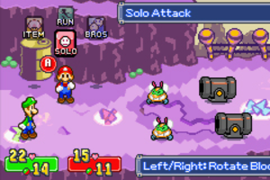 Mario & Luigi: Superstar Saga - Image: Mario And Luigi Superstar Saga GBA Battle