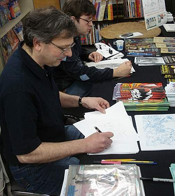 photo of Mark Marderosian at Free Comic Book D...