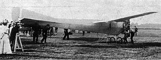 Air-tractor sledge - The plane in testing, before being shipped to Australia