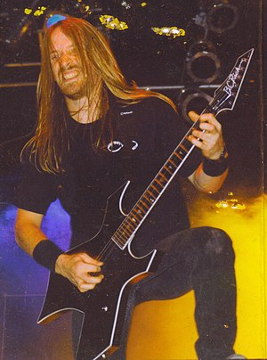 Merritt Gant - Merritt Gant on stage with Overkill in the early 1990s