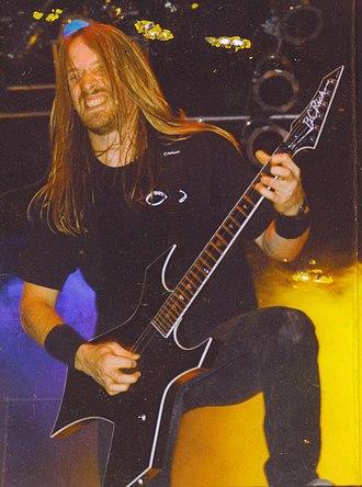 Merritt Gant - Merritt Gant on stage with Overkill in the early 1990s