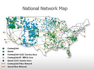 Network map of combined Qwest and CenturyLink ...