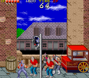 Ryu Hayabusa - Ryu, on the left, as he appears in his original game