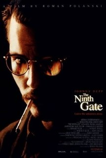 Theatrical release poster showing the film's title against a dark firey image of Johnny Depp's character with a cigarette in his mouth