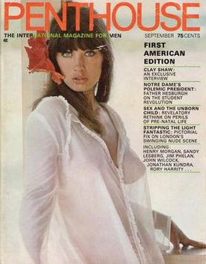 Penthouse (magazine) - The first U.S. issue of Penthouse, September 1969