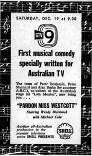 <i>Pardon Miss Westcott</i> 10th episode of the first season of Shell Presents