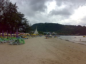 View of the Patong Beach facing South.