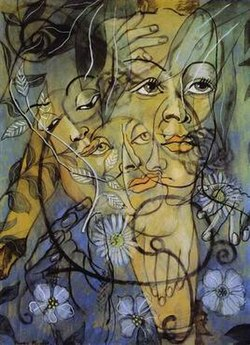 Francis Picabia, Hera,  c. 1929, oil on cardboard, 105 x 75 cm, private collection.