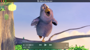 QuickTime X 10.4 playing Big Buck Bunny running on OS X Yosemite