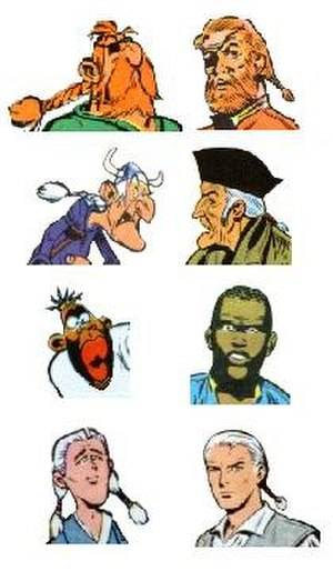 Redbeard (comics) - Asterix parodies on the left, originals at right
