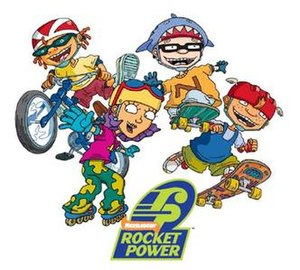 Rocket Power - From left to right: Otto, Reggie, Sam, Twister