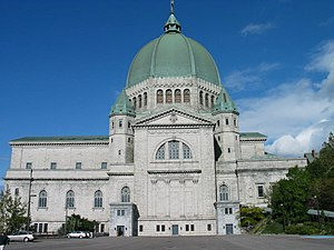 Landmarks of Montreal - Saint Joseph's Oratory is the largest church in Canada.