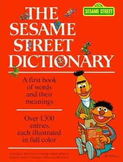 <i>The Sesame Street Dictionary</i> illustrated childrens dictionary featuring Muppets from the TV show Sesame Street
