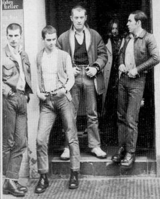 Slade - Slade in their skinhead phase in 1969 from left: Powell, Lea, Holder, Hill.