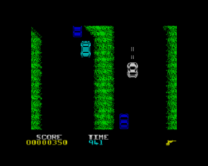 Spy Hunter - Screenshot of the ZX Spectrum port