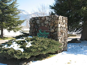 Stallion Springs, California - the entrance to the town
