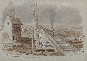 Sterling, Colorado - Sterling Railroad Station 1880s