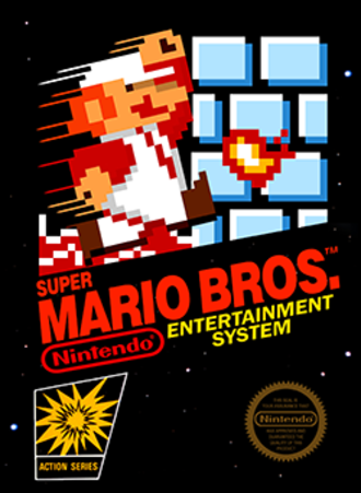 Super Mario Bros. - North American packaging artwork