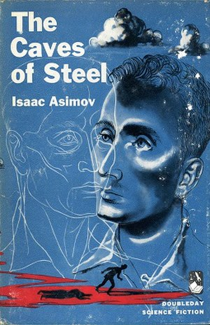 The Caves of Steel - Cover of first edition (hardcover)
