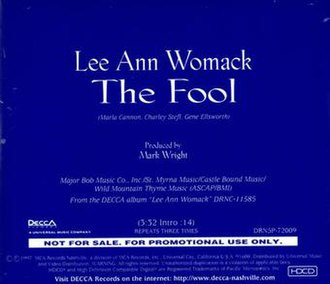 The Fool (Lee Ann Womack song) - Image: The Fool (Lee Ann Womack song)