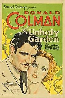 <i>The Unholy Garden</i> 1931 film