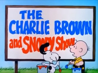 The Charlie Brown and Snoopy Show - The season 1 title card for the show.