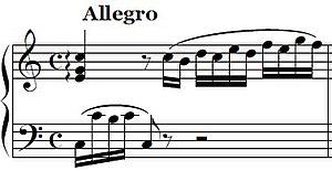 Piano Sonata No. 1 (Mozart) - The beginning