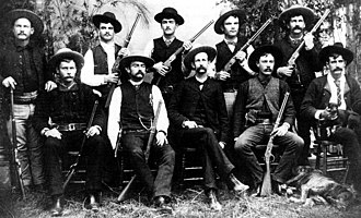 History of the Texas Ranger Division - Members of the Frontier Battalion, a company of Texas Rangers, ca. 1885